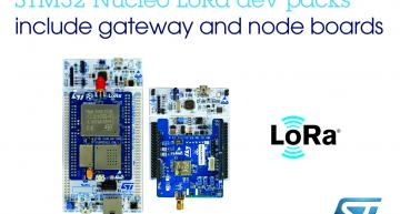 STMicroelectronics has launched two low-cost packs that allow easy access to long-range, low-power LoRa wireless connectivity.
