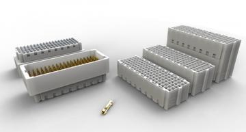 Mezzanine connector upgrades to 32+ Gbit/s