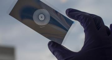 Low cost metal pattern films for greener flexible solar panels