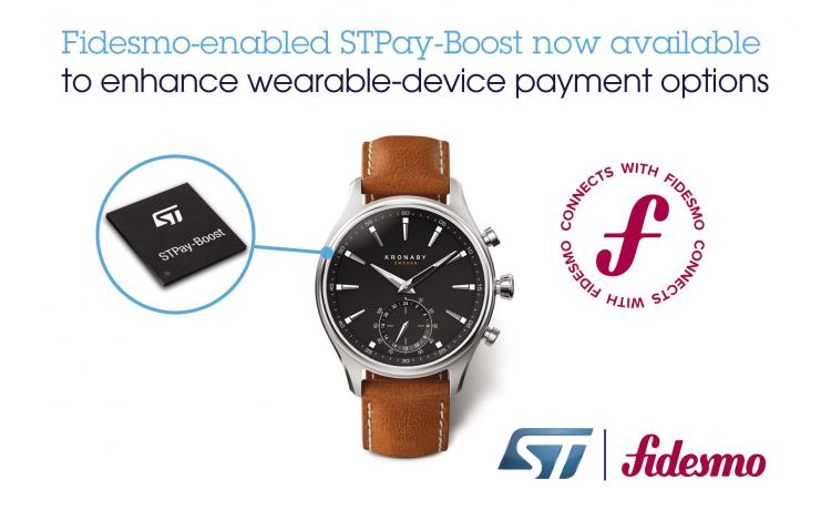 Payment SoC from ST enables secure contactless transactions with wearables