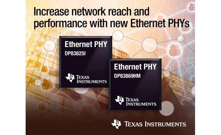 Composants PHY Ethernet simplifiant la conception des réseaux