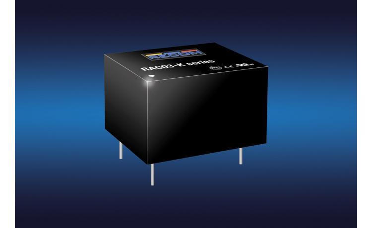 3W AC-DC converter has 1in² footprint