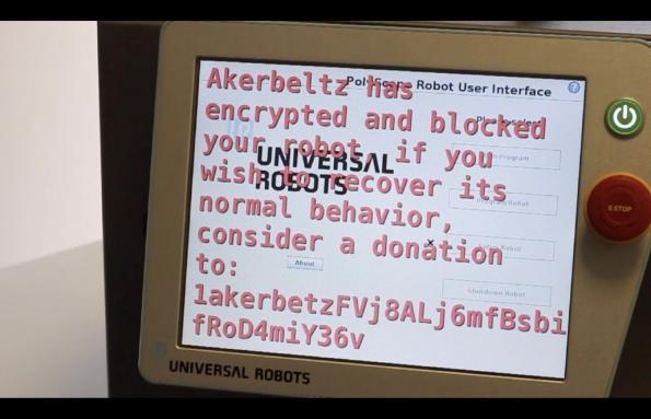 Industrial robot ransomware: Akerbeltz