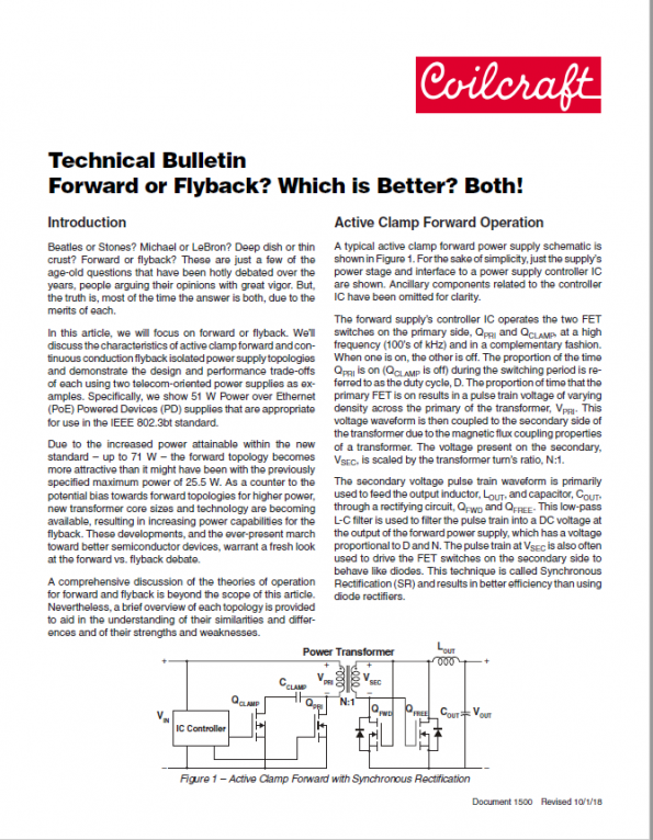 Forward or Flyback? Which is Better?