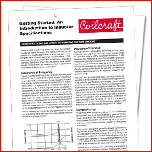 Coilcraft: An introduction to inductor specifications