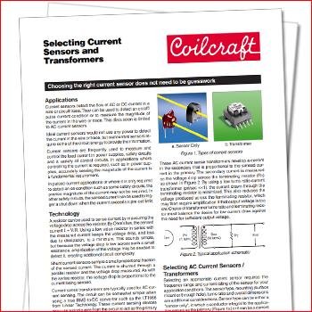 A Guide to Selecting Current Sensors and Transformers