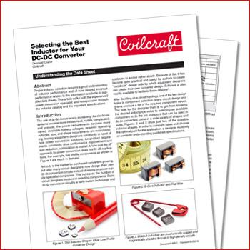 Coilcraft: Selecting the Best Inductor for Your DC-DC Converter