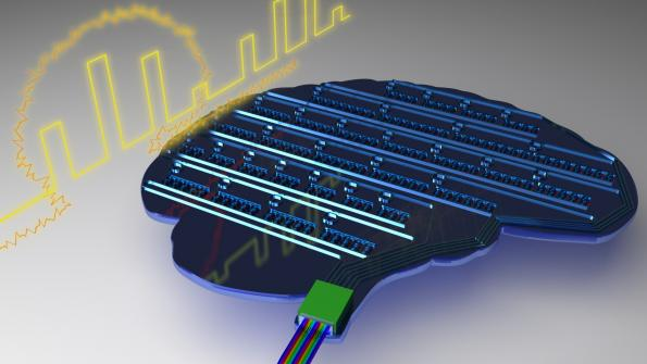 Light-based experimental computer chip functions similarly to the brain