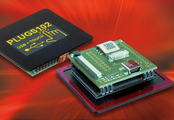 High-contrast OLED module with USB interface