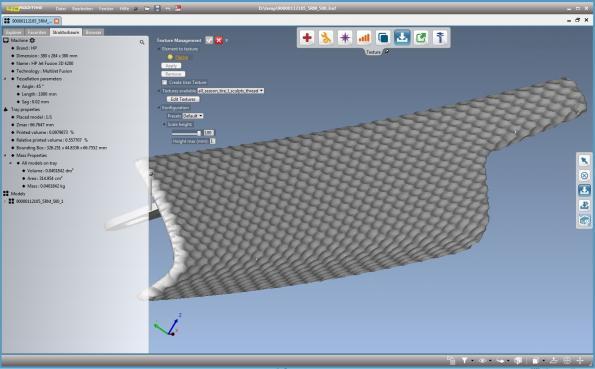 Additive manufacturing design tool has innovative texture module
