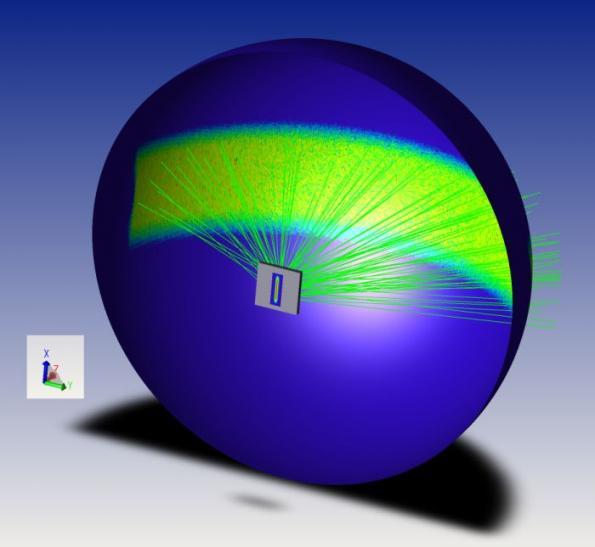 Wide-angle diffuser establishes uniform lidar illumination
