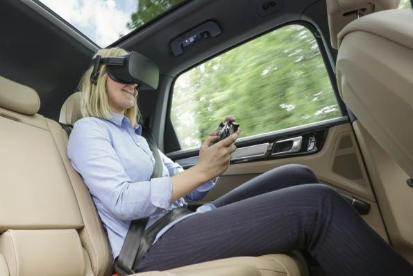 Porsche links VR infotainment and driving experience