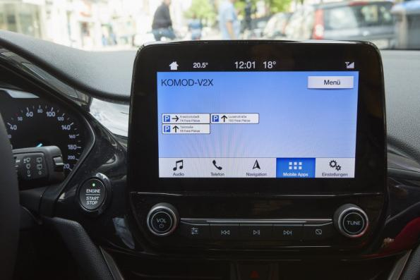 Vodafone and Ford test digital parking guidance system