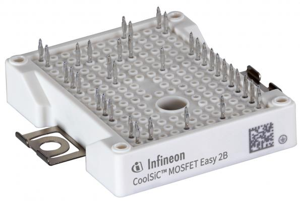 Infineon Technologies has launched two SiC power modules of the EasyPACK 1200 V family using CoolSiC MOSFETs.