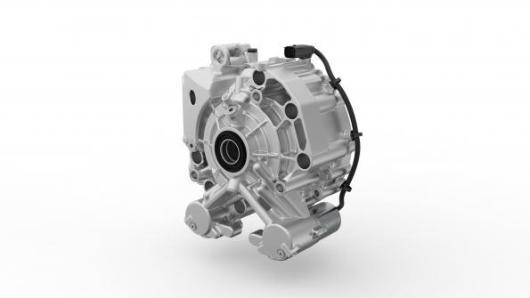 Torque-vectoring dual-clutch unit requires only one motor for e-cars