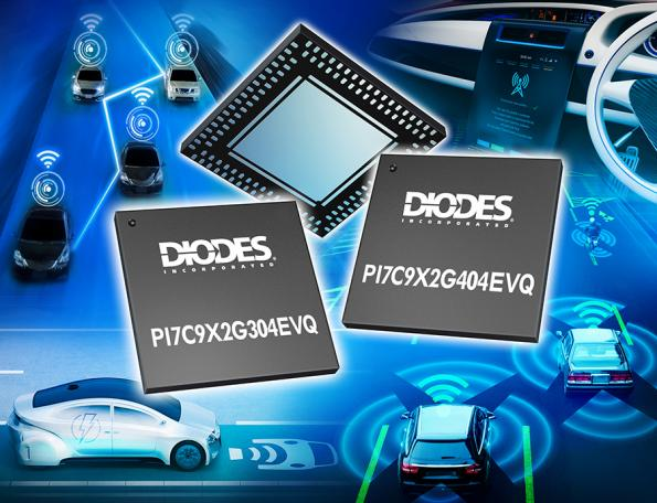 Packet switch ICs support in-car digital communication