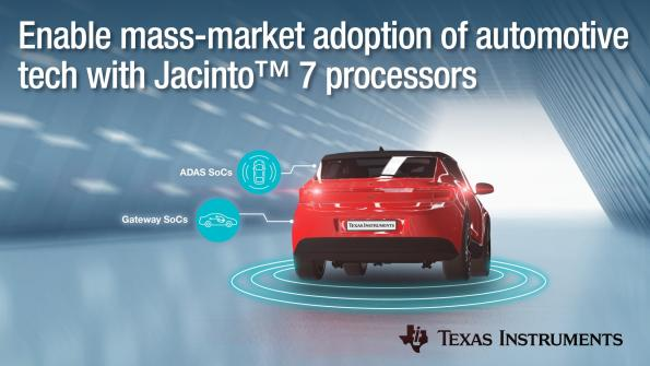 New Jacinto processor generation combines functional safety, deep learning