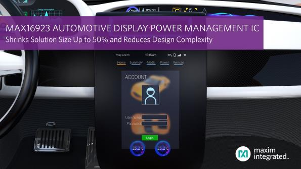 Automotive display PMIC shrinks power supplies, reduces design complexity