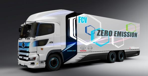 Toyota develops fuel cell truck with Hino
