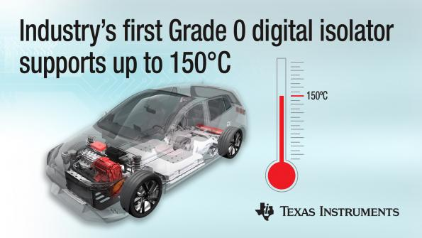 Digital isolator withstands temperatures above 125°C in HEC/EV systems