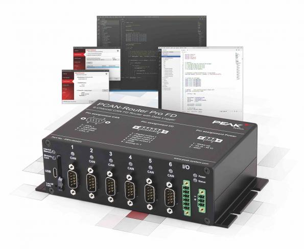 6-channel router and data logger for CAN / CAN FD is programmable