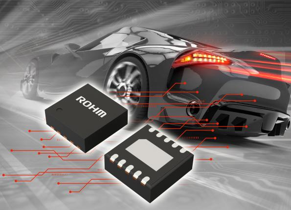 Compact LED driver stabilizes exterior lighting in cold-crank situations