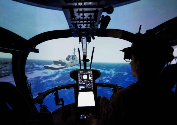 Augmented reality facilitates helicopter landings on ships
