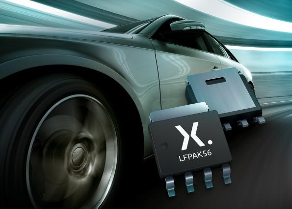 Automotive P-channel MOSFETs now in space-saving package