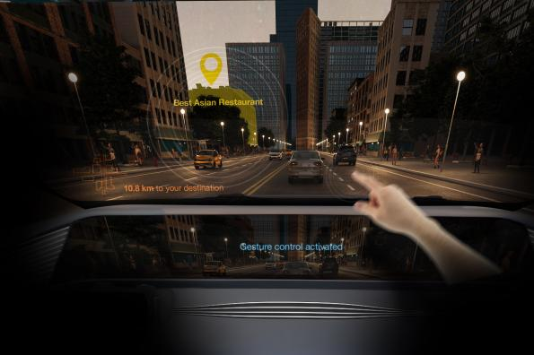 Ultra compact infrared LED enables gesture control in the car interior