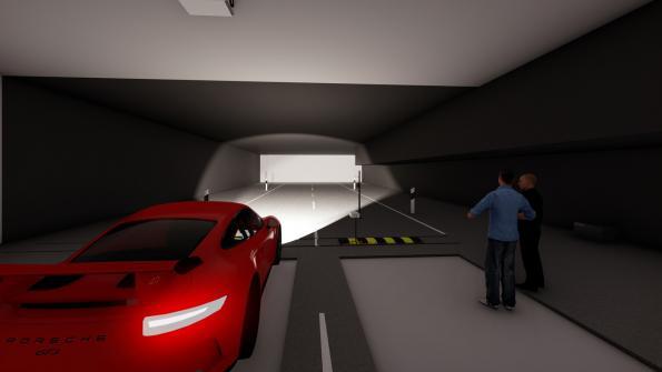 Porsche expands development centre with a light channel