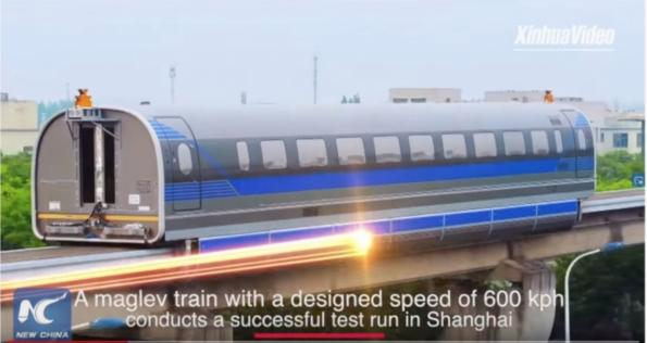 Maglev train system to reach 600 km/h