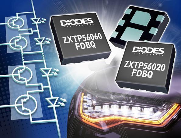 PNP transistors are optimized for automotive matrix lighting