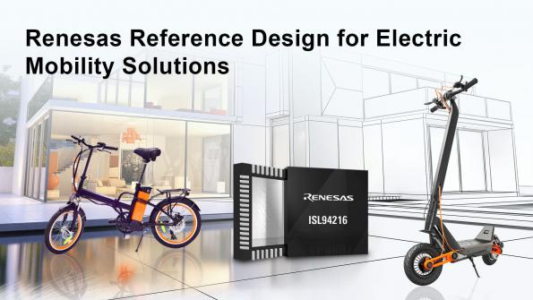 Micromobility solution integrates 32-bit MCU with battery frontend