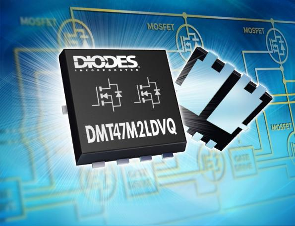 Diodes has shrunk dual MOSFETs