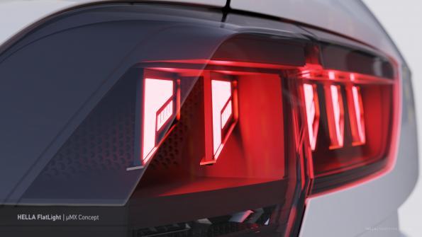 Hella shrinks taillight optics to micro dimensions