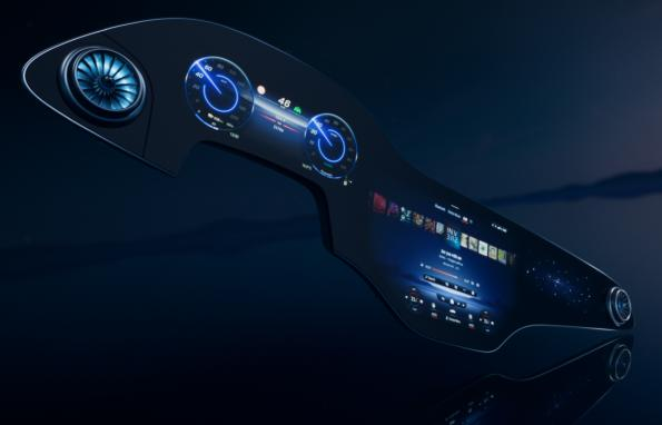 Daimler gives its EQ electric vehicle a giant display screen