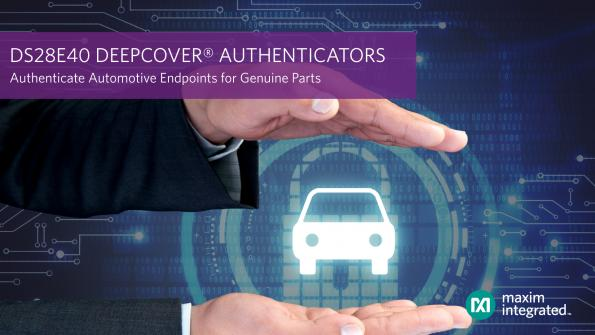 Authenticator chip guarantees origin of electronic car components