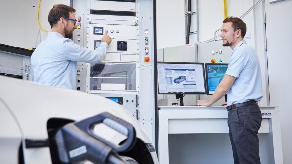 Test system emulates EV charging stations