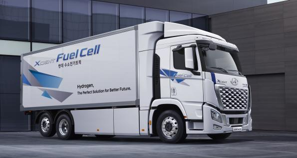 Hyundai shows redesigned fuel cell truck XCIENT