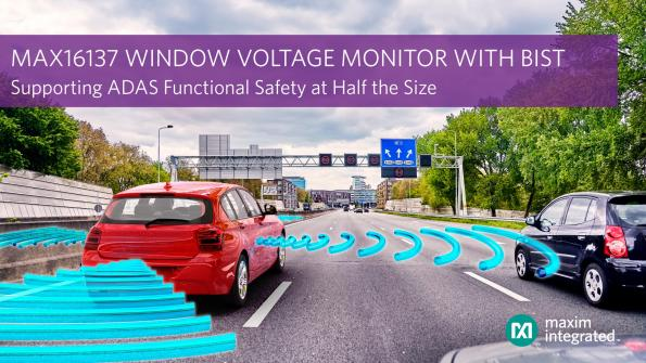 Voltage monitoring IC saves space, offers self-test feature