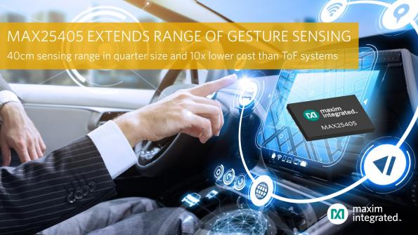 IR-based sensor recognizes hand gestures from a distance