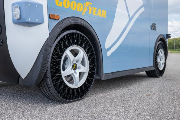 Goodyear tests airless tyres for autonomus vehicles