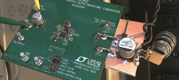 """Ultra-Low-Noise Phantom Microphone Supply Uses Tiny DC-DC Converter Plus Capacitor """"Trick"""""""