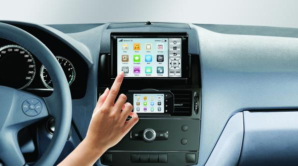 SDK frees the car radio from the center console