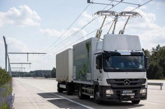 Overhead power supply for trucks could be viable, study says