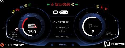 Instrument cluster runs in a virtual machine