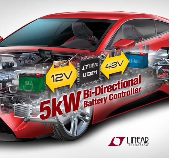 48V/12V Dual Battery Automotive Systems Require Bi-Directional DC/DC Controllers