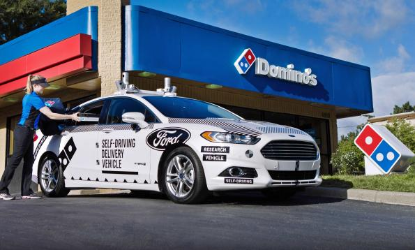 Ford, Domino's test automated pizza delivery