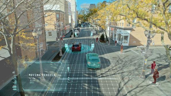 Radar scans environment in four dimensions