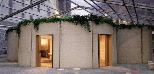 Printed building demonstrates new sustainability concepts